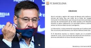 FC Barcelona publish official statement on Bartomeu's arrest