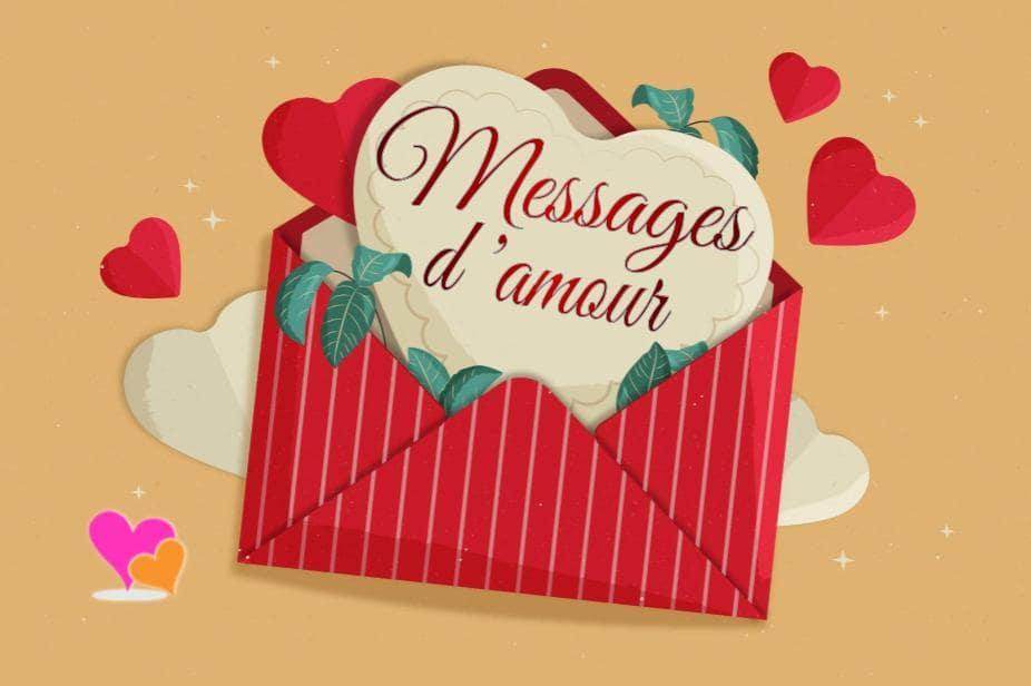 Message d'amour qui touche le cœur