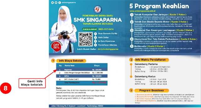 Free File : Download Contoh Desain Brosur Penerimaan Siswa baru SMK Gratis