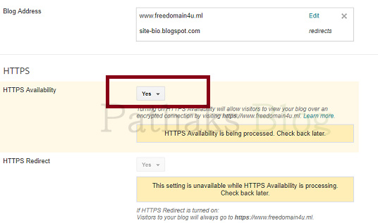 custom domain https availability in blogger, pathaks blog, anil pathak blog