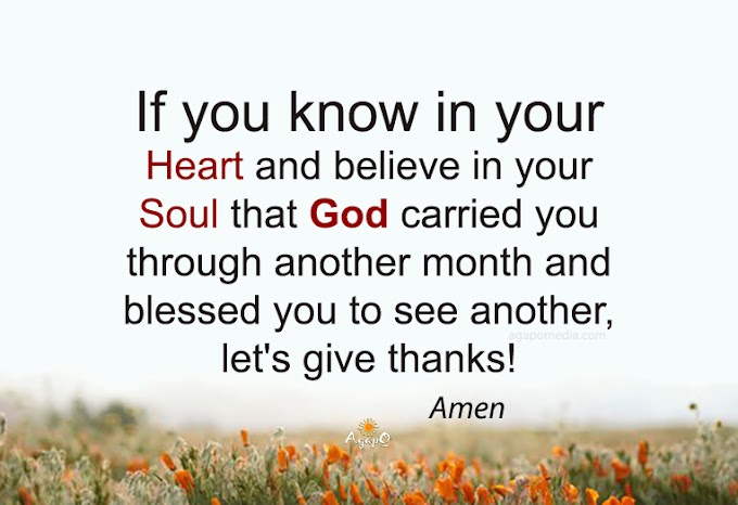 If you know and believe...