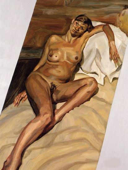 freud portrait of Kate Moss