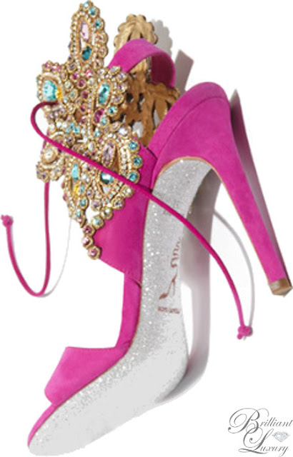 Brilliant Luxury ♦ Rene Caovilla Jewel Embellished Sandals