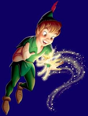 Imagen de Peter Pan junto a Campanilla a colores