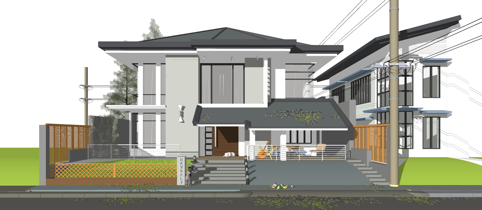 Exterior: Interior Design By Kevin To: Residential Night Scene