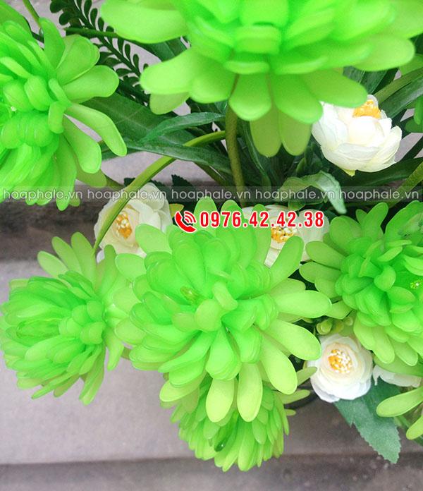 Hoa cúc xanh pha lê