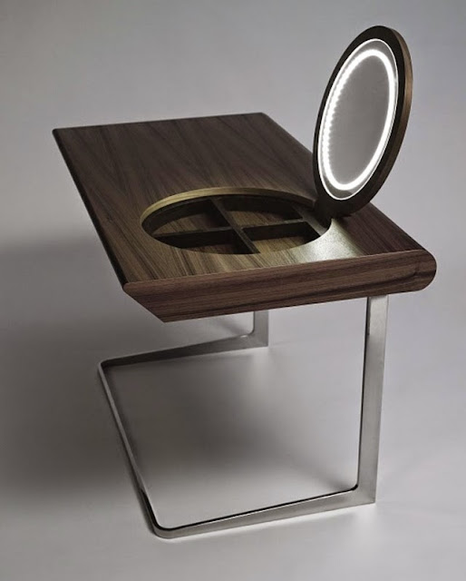 small modern dressing table ideas, dressing table mirror lights