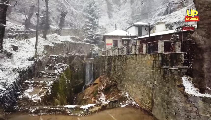 [Eλλάδα]Πήλιο:Ο  χιονιάς  express  ήταν αρκετός για να δημιουργήσει ένα παραμυθένιο σκηνικό![video]