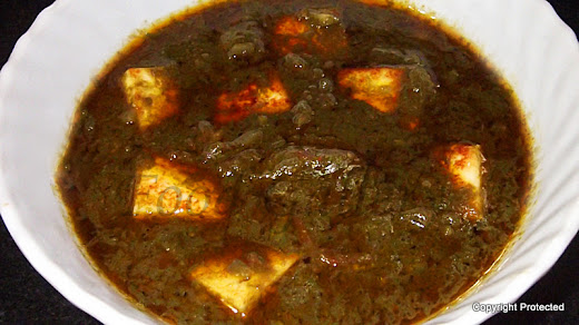 palak paneer, spinach and cottage cheese