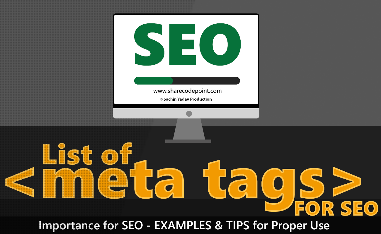 Meta Name Keywords List Of Meta Tags For Seo Search Engine Optimization
