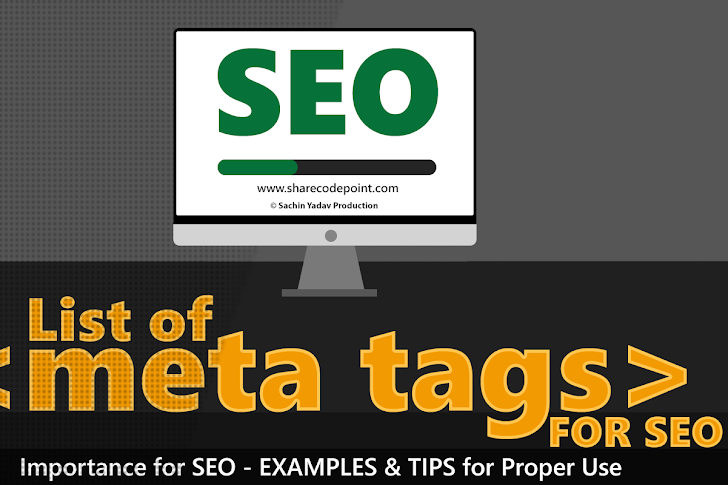 List of Meta Tags for SEO - Search Engine Optimization