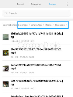 Cara Mengambil Foto Atau Video Dari Status Whatsapp Teman