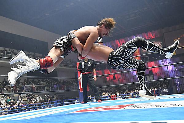 Tetsuya Naito and SANADA in the G1 Climax 30
