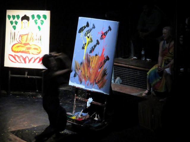 Live artwork painted during a Phare Circus performance in Siem Reap Cambodia