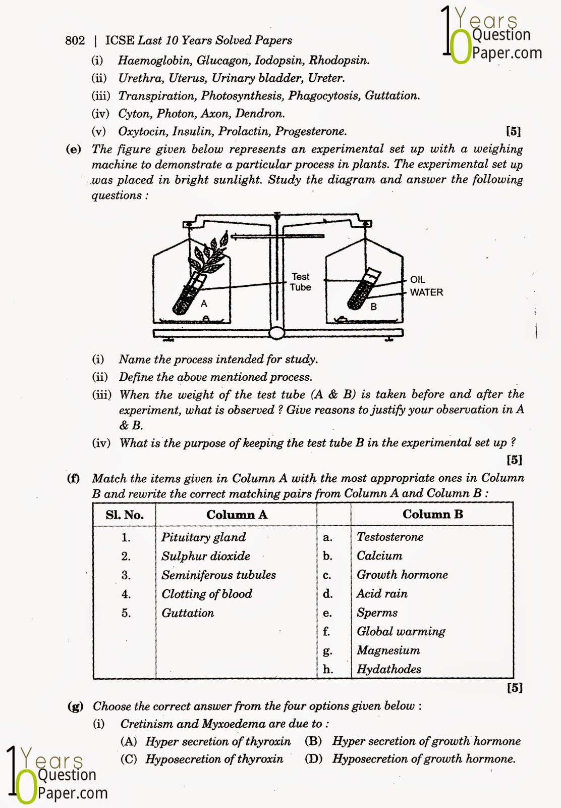 Maths Sample Paper For Class 10 Icse