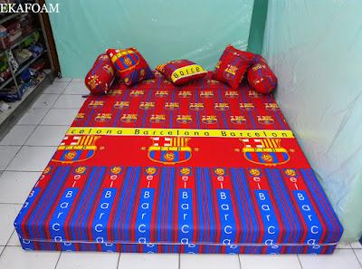 Sofa bed inoac motif FCB Bola barcelona