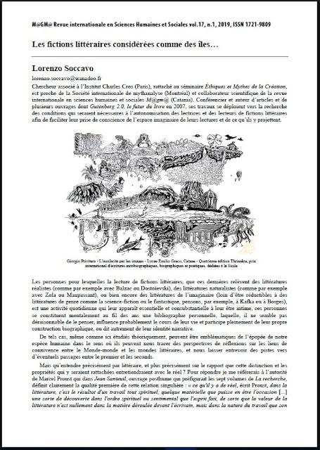Contribution de Lorenzo Soccavo au colloque Mythanalyse de l insularité.
