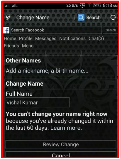 How Many Times Can You Change Your Name on Facebook