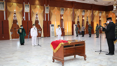 Setelah Dilantik Sebagai Walikota dan Wakil Walikota Banjarmasin Banyak Pesan untuk Ibnu dan Arifin