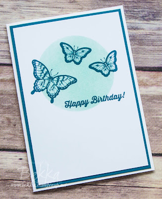 Make In A Moment Butterfly Birthday Card in Beautiful Blues - get Stampin' Up! UK Supplies here