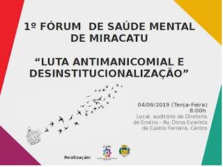 Prefeitura de Miracatu realiza 1º Fórum de Saúde Mental