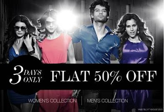 "Enjoy Flat 50% Off on ""PROVOGUE"" Brand Men's / Women's Clothing (Offer Valid till 21st Aug'13)"