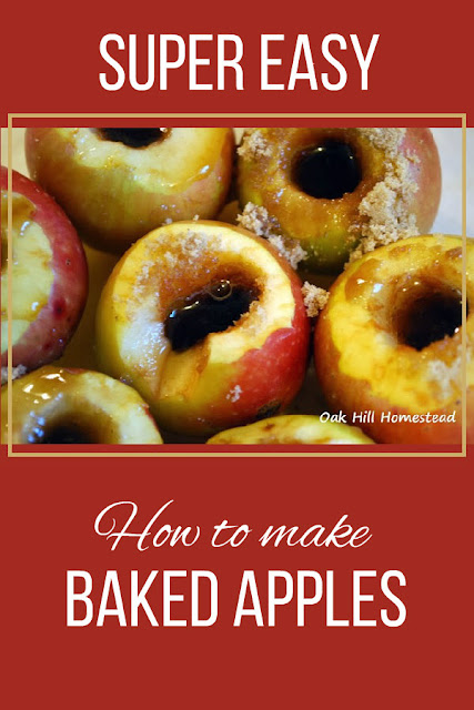 Baked apples are a simple, easy autumn dessert, perfect on cold evenings served warm from the oven with a scoop of ice cream.