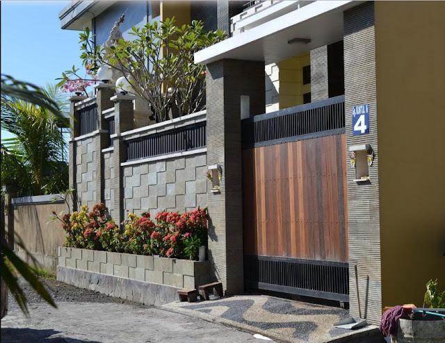 pagar rumah minimalis modern batu alam