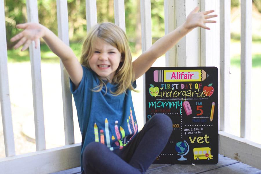 kindergarten homeschool, excited to learn