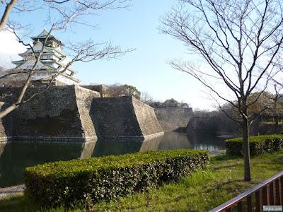 大阪城と内堀