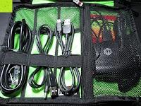 Tasche mit Inhalt: BUBM DIS-L Tragbare Electronics Zubehör universal Kabel Organisator Kabel /Akku Aufbewahrungstasche Schwarz