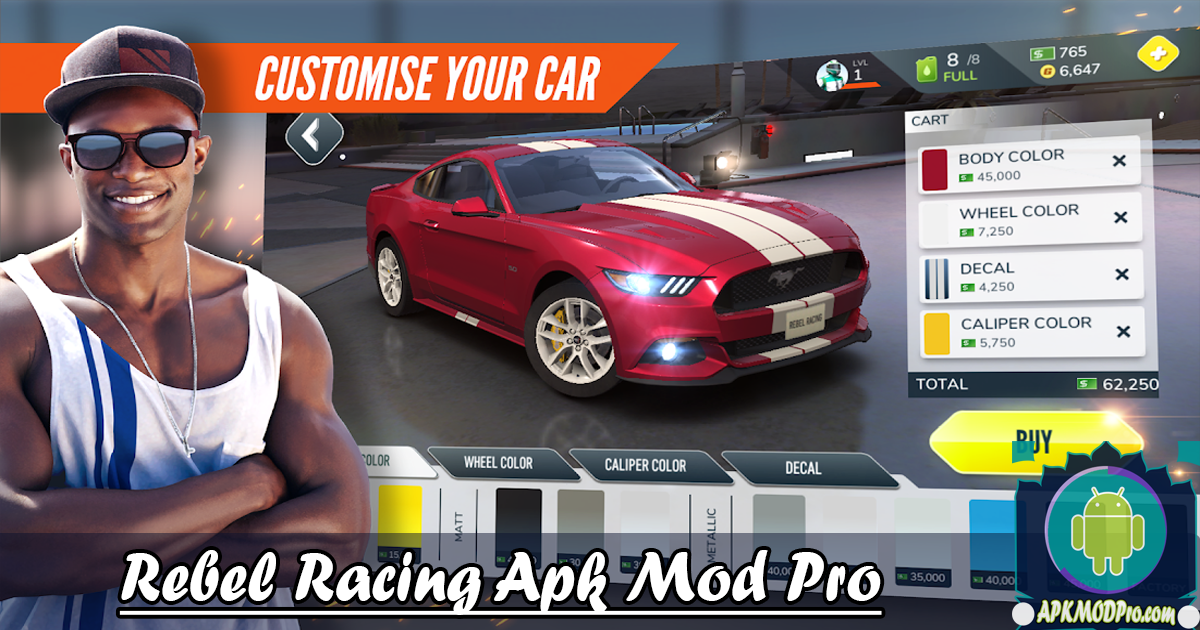 Rebel Racing MOD APK v1.26.9450 (Dumb Opponents + Full Reward) Terbaru 2020