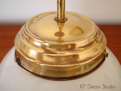 Lámparas antiguas restauradas vintage dorado, latón