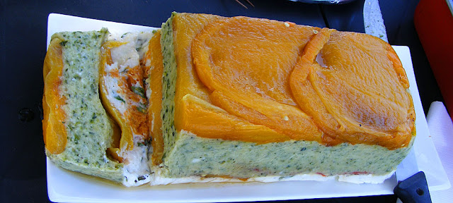 Vegetable terrine. Prepared and photographed by Susan Walter. Tour the Loire Valley with a classic car and a private guide.