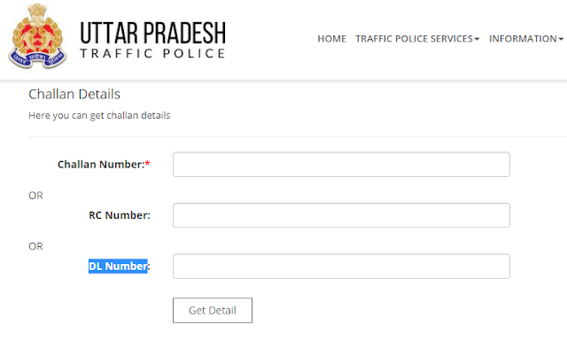 Up Traffic Police E Challan Online Payment