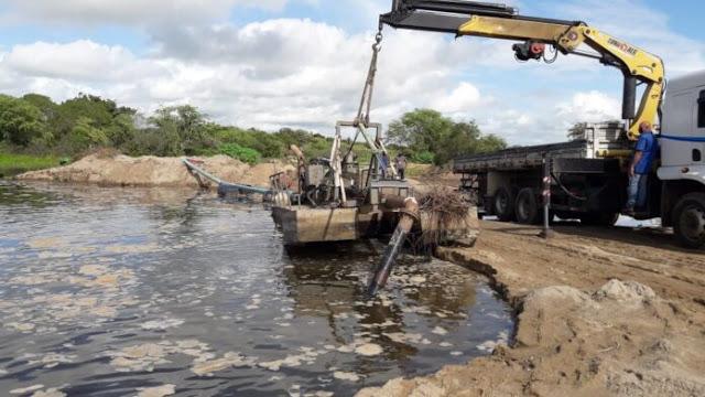 ITABAIANA: Operação flagra extração irregular de areia do Rio Paraíba.