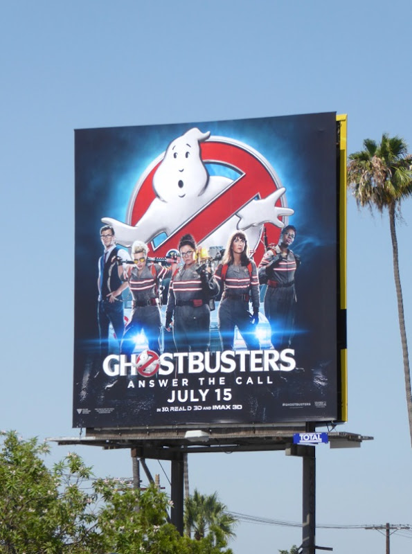 Ghostbusters movie reboot billboard
