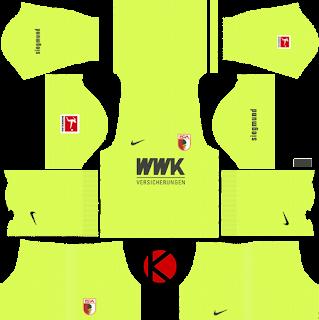 FC-Augsburg-nike-kits-2019-2020-dream-league-soccer-%2528goalkeeper-home%2529