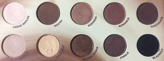 Flawless natural basics eyeshadows