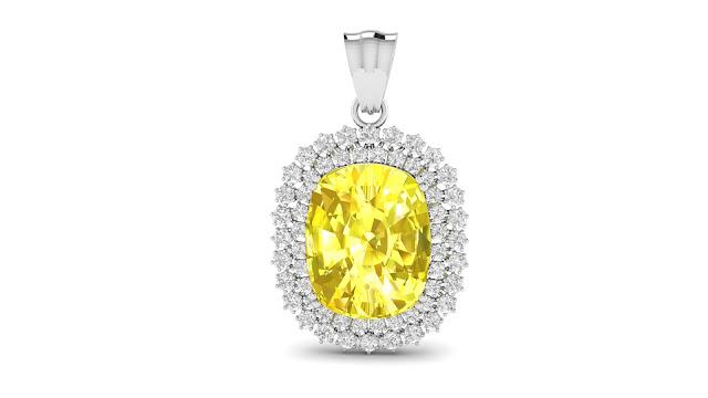 Kate Shine Yellow Sapphire Pendant. Rs. 36,905-