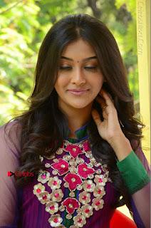 Actress Pooja Jhaveri Latest Stills in Purple Salwar Kameezt at Dwaraka Success Meet  0169.JPG