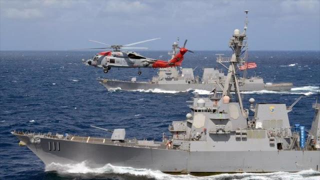 """Buques de EEUU """"desafían"""" a China acercándose a islas en disputa"""