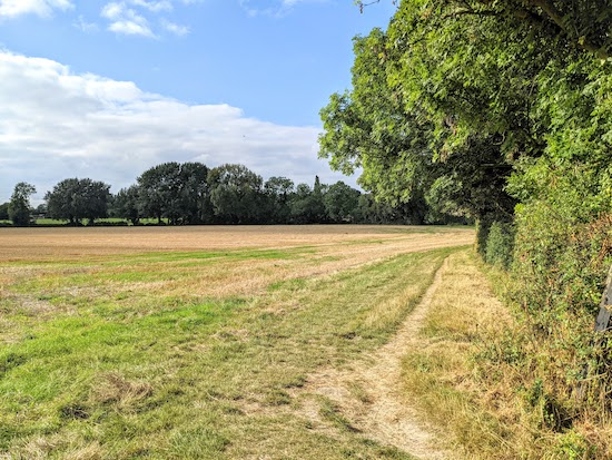 From point 16 to 17 keep the hedgerow on the right and field on the left