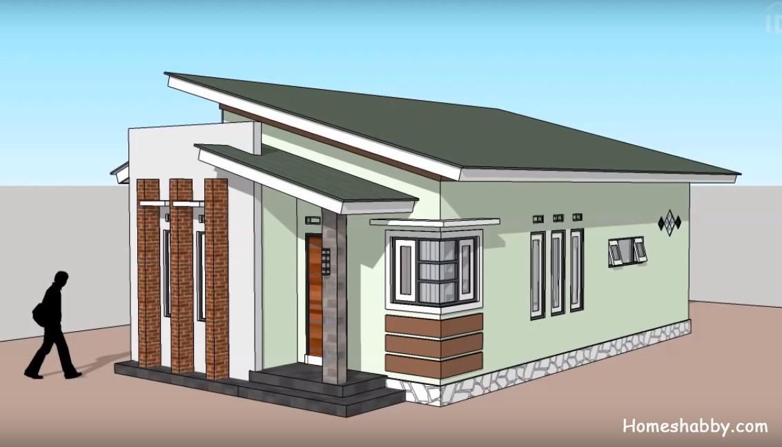 denah rumah minimalis ukuran 6x10 1 lantai 3 kamar tidur