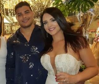 Paulo Costa With His Girlfriend Tamara Alves