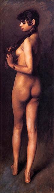 John Singer Sargent - Ragazza egiziana nuda