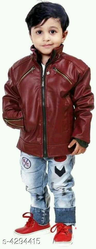 Doodle Classy Pu Leather Kid's Boy's Jackets