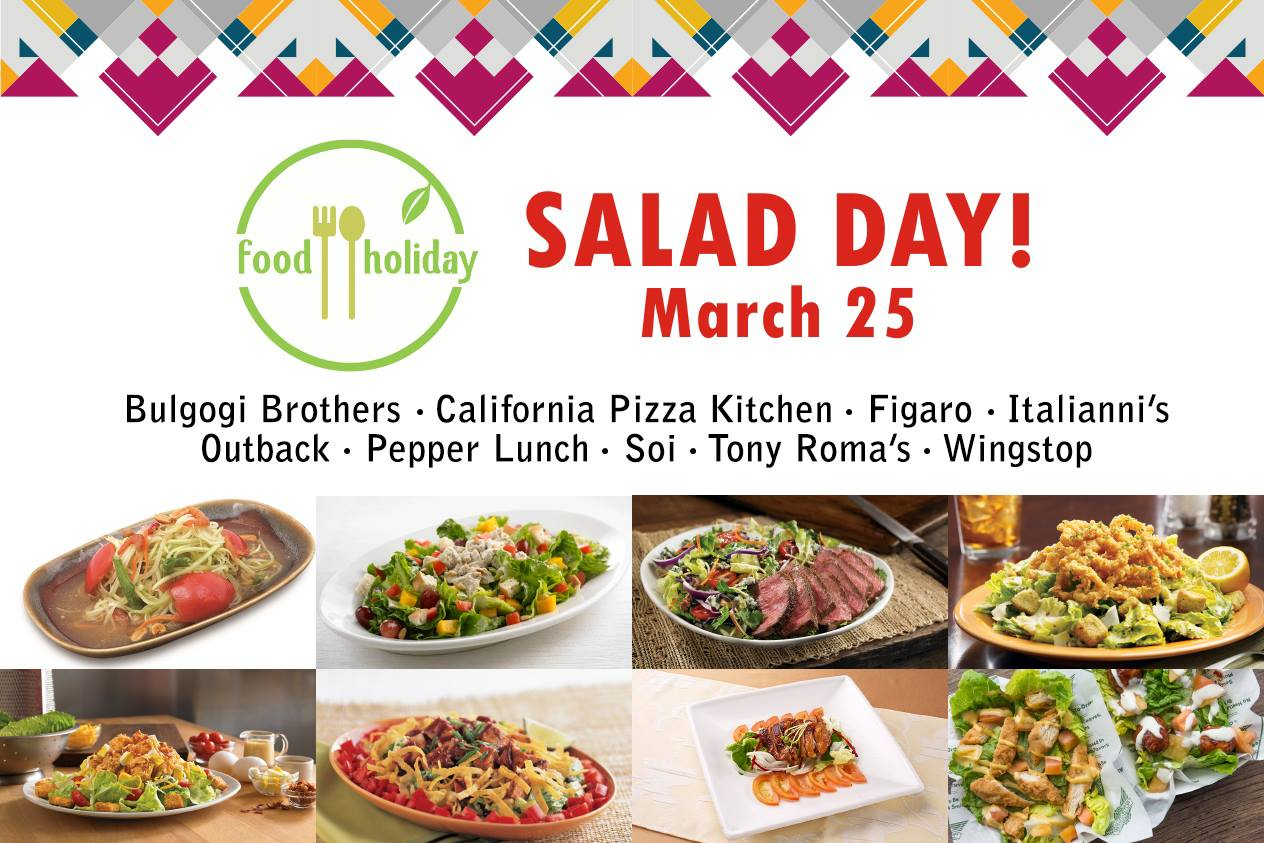 Manila Shopper: Alabang Town Center Salad Day: Mar 25 2017