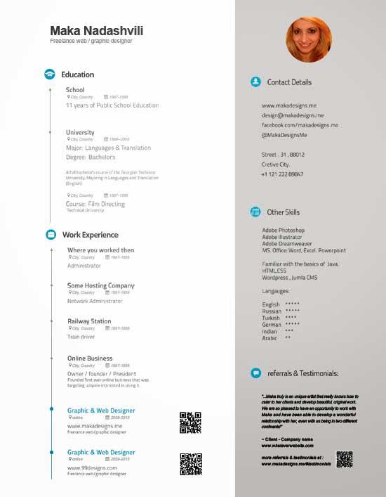 Free Creative Resume Template 24