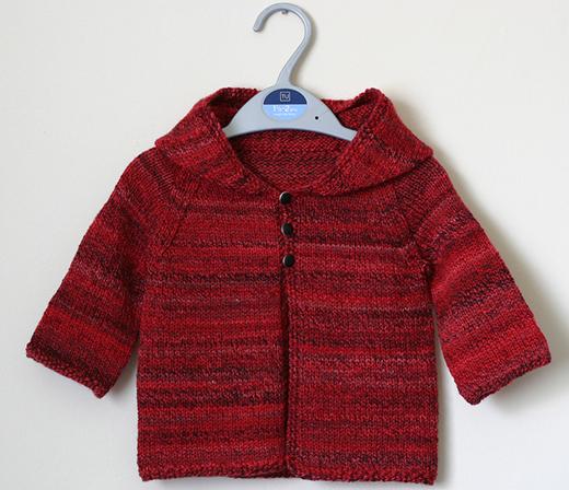 Daisy Baby Sweater Free Knitting Pattern